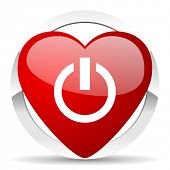power valentine icon on off sign