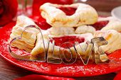Heart And Love Shaped Cookie Cutters For Valentines Party