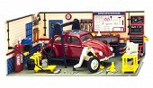 Vw Beetle In Workshop