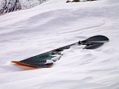 freshly dampened hot snowboard!