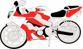 stock photo of crotch-rocket  - 1000cc Motorcycle crotch rocket bike - JPG