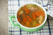 Chicken Broth Cooked With Vegetables