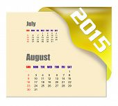August 2015 calendar with past month series