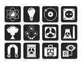 foto of nuclear bomb  - Silhouette Atomic and Nuclear Energy Icons  - JPG