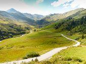 alpine mountain road