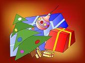 Christmas Tree And Christmas Presents
