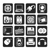 Silhouette Computer Items and Accessories icons