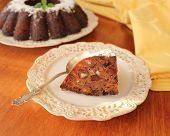 cake with fruit, whisky, chocolate and nuts