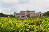 Tourists in the Belvedere palace, Vienna Austria