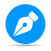 Ink Pen Icon Isolated On White Background