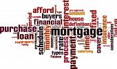 picture of amortization  - Mortgage word cloud concept - JPG
