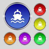 foto of brigantine  - ship icon sign - JPG