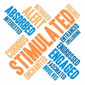 image of stimulation  - Stimulated word cloud on a white background - JPG