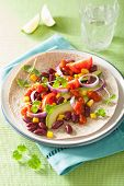 pic of kidney beans  - vegan taco with vegetable - JPG