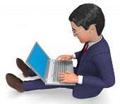 pic of encoding  - Businessman Typing Meaning World Wide Web And Website - JPG