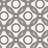 image of interlocking  - Vector seamless pattern of ornate interlocking circles of lace - JPG