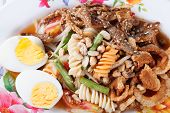 picture of green papaya salad  - Somtum papaya salad delicious food in thailand - JPG