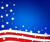 Flag of the USA background