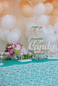 picture of candy  - Cute candy bar with various candies and cakes - JPG