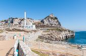 picture of gibraltar  - White mosque at Europa Point on Gibraltar - JPG