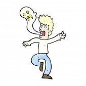 foto of leaving  - cartoon ghost leaving man - JPG