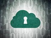 image of keyholes  - Cloud computing concept - JPG