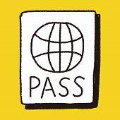 picture of passport cover  - Doodle Passport - JPG