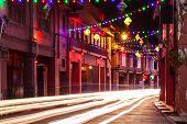 picture of hari raya  - Holiday illumination on the street of Malacca during Hari Raya Puasa celebrations - JPG
