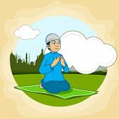 picture of namaz  - Islamic holy month of prayers - JPG