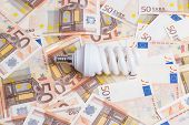 stock photo of fifties  - Price of electricity concept - JPG
