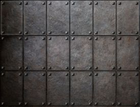 pic of ironclad  - knight armor metal texture with rivets background - JPG