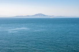 stock photo of gibraltar  - African coast seen from Gibraltar - JPG