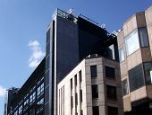 stock photo of business-office  - This is a modern office building in central London - JPG