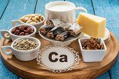 Постер, плакат: Products Containing Calcium ca