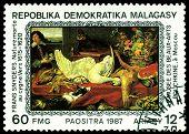 Vintage  Postage Stamp. Frans Snyders. Naturemorte To Sygne.