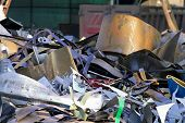 image of reprocess  - industrial metallic scrap ready to be recycled - JPG