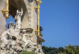 stock photo of conch  - The birth of Venus in the Ciutadella Park in Barcelona - JPG