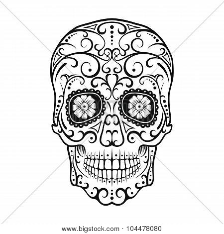 Sugar skull background black