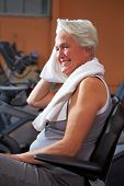 Senior Woman Sweating In Gym