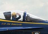 Jet Pilot Salutes Crowd
