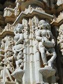 Apsaras, Dancing Girls And Jain Saints On Exterior Walls