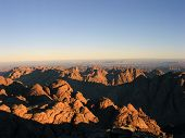 image of jabal  - the view from mount sinai at dawn in egypt - JPG