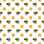 Buzzy Bee Seamless Wallpaper