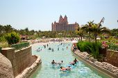 Dubai, Uae - August 28: The Aquaventure Waterpark Of Atlantis The Palm Hotel, Located On Man-made Is