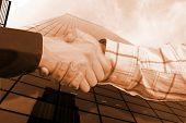 Business Sephia Handshake
