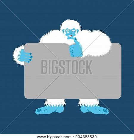 Yeti Holding Banner Blank Bigfoot