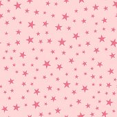 Pink Stars Seamless Pattern On Light Pink Background. Fascinating Endless Random Scattered Pink Star poster