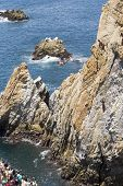 Cliff Diver In Flight