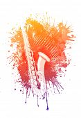 Watercolor Saxophone