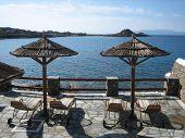 Overlooking Agean Sea In Mykonos
